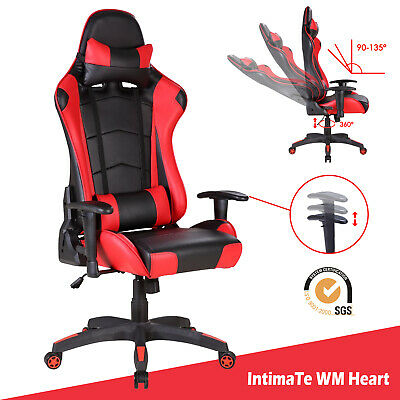 Office Chair Executive Racing Gaming Computer Desk Sport Swivel Recliner Leather