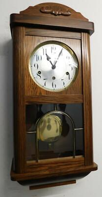 oak westminster chimes wall clock