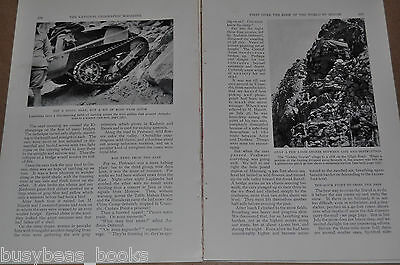 1932 magazine article about HIMALAYAS, first driving expedition, motor explore