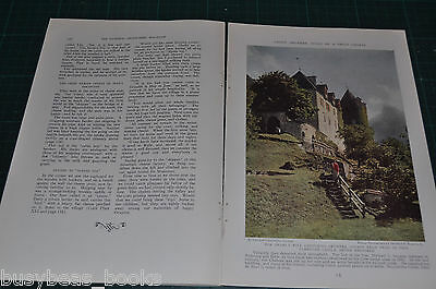 1936 magazine article, GRUYERES SWITZERLAND, people cheese history color photos
