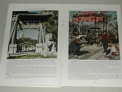 1949 PEIPING CHINA magazine article, Peking, color photos, communist takeover