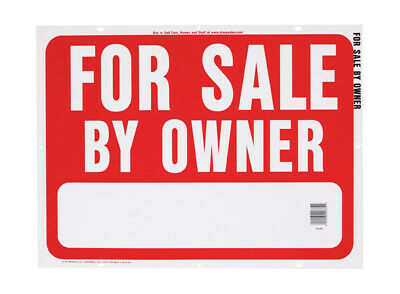Hy-Ko  English  For Sale by Owner  24 in. W x 18 in. H Plastic  Sign