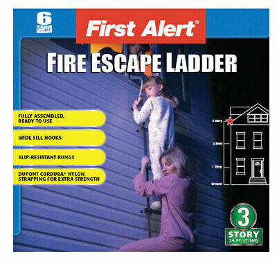 First Alert  24 ft. H Steel  350 lb. Fire Escape Ladder