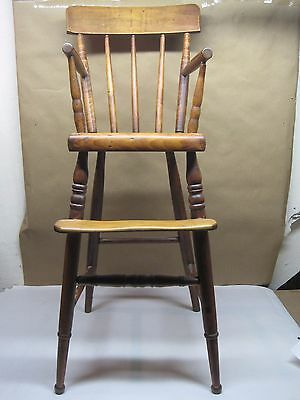 """Antique 19th Cent. Doll/Child Maple High Chair 36"""" Tall"""