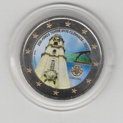 Portugal Tower 2013 Colored Coloured Coin