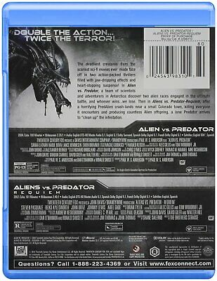 AVP Double Feature Alien vs. Predator / Aliens vs. Predator Requiem Blu-ray