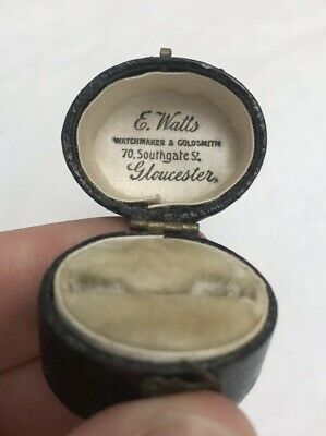 Georgian Tooled Leather Ring Box E Watts Watch Maker And Gold Smiths