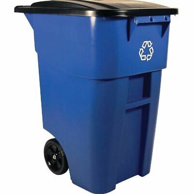 Rolling Recycling Bin Can Commercial Heavy Duty Large Waste Rollout Container