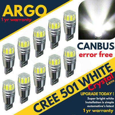 T10 Led Car Super Smd Cree Xenon White 501 W5W Canbus Error Free Sidelight Bulbs