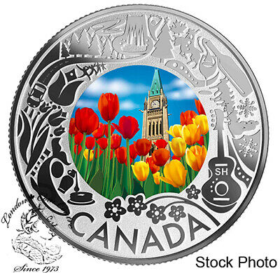 Canada: 2019 $3 Celebrating Canadian Fun and Festivities Tulips Pure Silver Coin