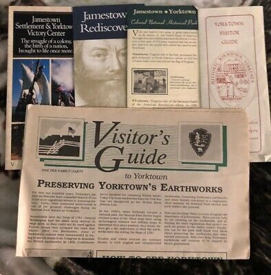 Lot of 5 Jamestown Yorktown Travel Brochures Virginia