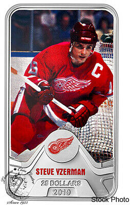 Canada: 2019 $25 NHL: Detroit Red Wings: Steve Yzerman Pure Silver Coin