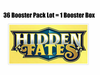 POKEMON S&M Hidden Fates 36 Booster Pack Lot = Booster BOX ENGLISH SALE!
