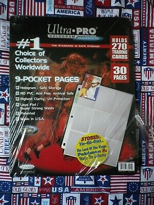 Ultra Pro 9-Pocket Pages Card Guards Hologram Series 28 Pages