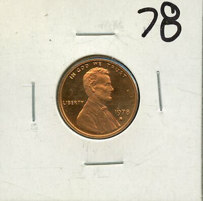 1978-S 1c Proof United States Lincoln Memorial Cent BH611