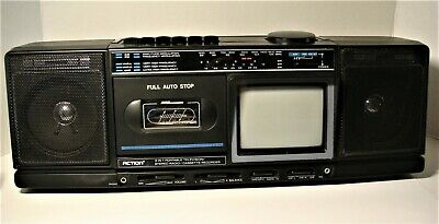 Vintage Action #ACN-3550 AM/FM/TV/Cassette Player Stereo Boom Box Tested= Ex!