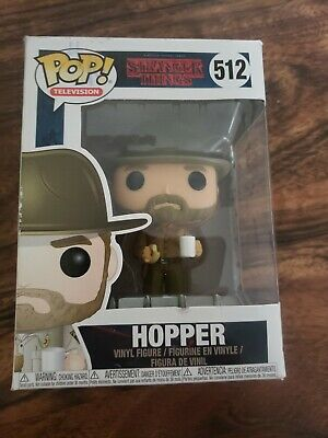 Funko Pop Television Stranger Things Hopper with Donut Collectible Figure