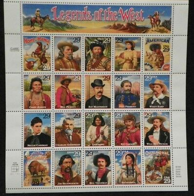 Scott #2869 Legends Of The West (Revised) Mnh Sheet Of 20