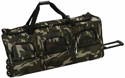 Rockland Luggage 40 Inch Rolling Duffle Bag, Camouflage, X-Large