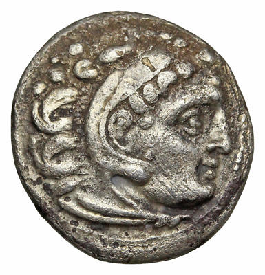 KINGS of MACEDON. Alexander III 'the Great'. 336-323 BC. AR Drachm, Kolophon