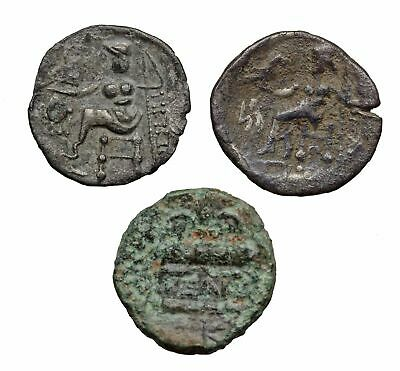 "Alexander III ""The Great"" lot of 3, inc. Silver drachm and Celtic silver drachm"