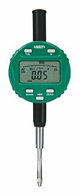 "INSIZE 2104-10F Digital Indicator, 12.7 mm/0.5"", Resolution 0.01 mm/0.0005"", Fla"