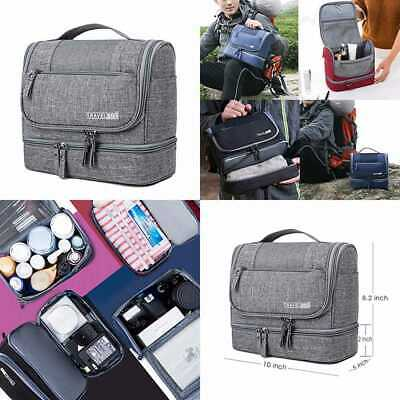 Toiletry Bag Hanging Organizer W Dry & Wet Separation Cosmetic Dop Kit For Men O