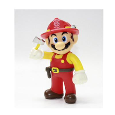 Super mario bros brothers odyssey firefighter action figure 12cm NEW birthday