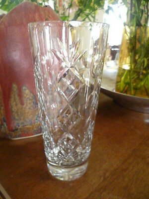 Rare Vintage Edinburgh Crystal Glenshee No. 68219 Cut Crystal Glass Vase 9'' VGC