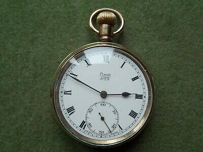 Clean Vintage Gold Plated LIMIT No 2 N Pocket Watch.