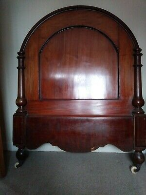 Headboard and footboard for single bed. Antique/vintage, solid wood