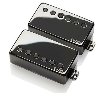 EMG James Hetfield Unterschrift Aktiv Humbucker Set - Schwarz Chrom