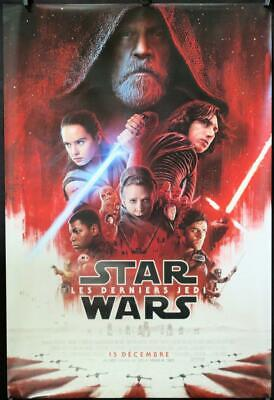 R932 LAST JEDI int'l French  advance DS 1sh 2017 Star Wars, Hamill, Fisher