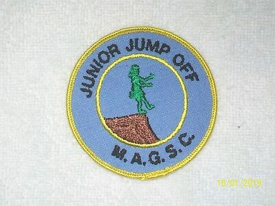 JUNIOR JUMP OFF M.A.G.S.C. - NJ Girl Scout Embroidered Patch Applique