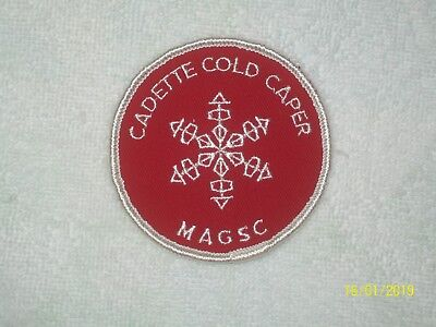 Girl Scout CADETTE COLD CAPER M.A.G.S.C. Embroidered Patch Applique - 1970's