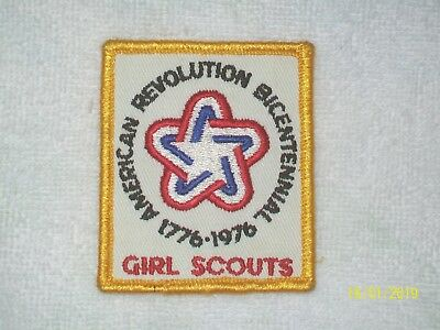 American Revolution 1776-1976 Bicentennial Girl Scout Embroidered Patch Applique