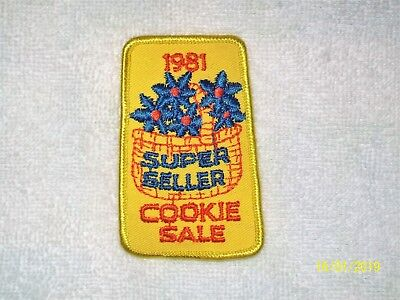 1981 Super Seller Cookie Sale - Girl Scout Embroidered Patch Applique
