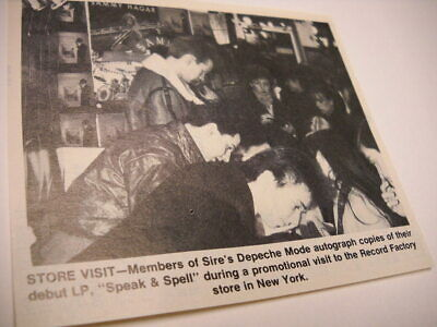 DEPECHE MODE in store at Record Factory in New York City 1982 music biz pic/text