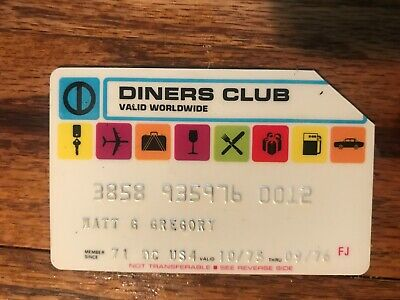 Diners Club Expired Credit Card Matt G. Gregory Signed 1975