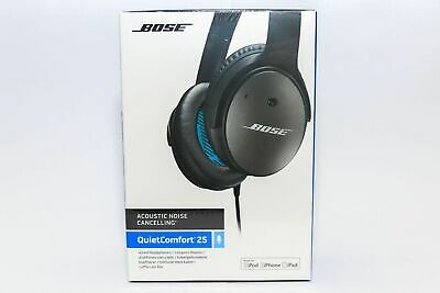 NEW Bose QuietComfort QC 25 Black Acoustic Noise-Cancelling Headphones Apple iOS