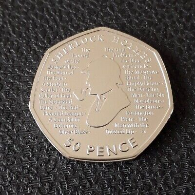 New Sherlock Holmes 2019 50p Fifty Pence Coin Uncirculated