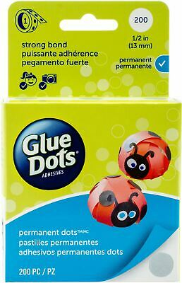 200 Glue Dots Sticky Craft Clear Scrap Removable 10mm Scrapbooking Card Making
