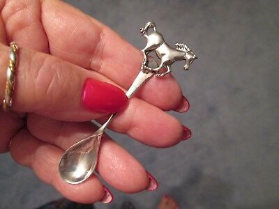 RUNNING HORSE ~ CHRISTMAS SALE ITEM !!! Sterling Silver  RARE ~ SALT SPOON ~