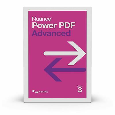 Nuance Power PDF Advanced 3.0  New Version! Free Shipping!