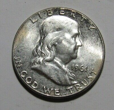 1961 Franklin Half Dollar - AU+/BU Condition - 312SU
