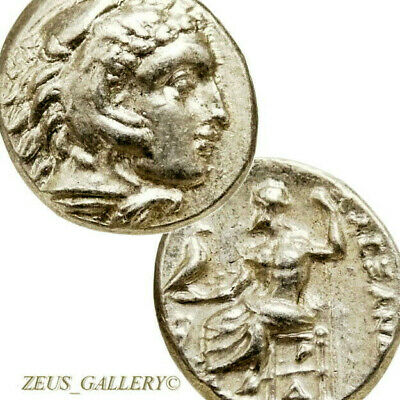 Lifetime ALEXANDER the Great Coin Demeter Ancient Greek Silver Drachm Herakles Z