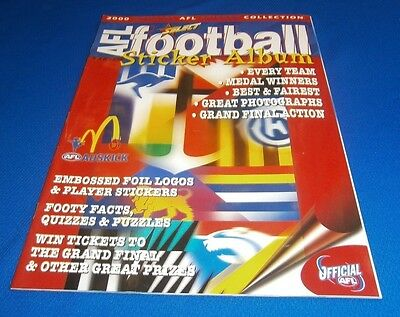 2000 Select AFL Football Sticker Album New Mint Unused 50 Pages Official Book