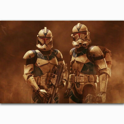Star Wars Clone Trooper Robots Fighting Classic Movie Hot Poster K-431