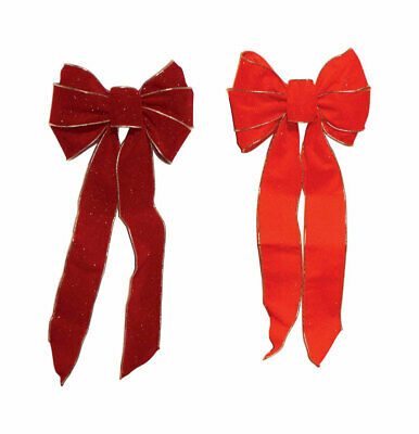 Holiday Trims  Bow  Assorted  Fabric  1 each
