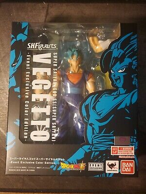 SH Figuarts Super Saiyan God Vegito Blue SDCC 2018 Exclusive New Authentic